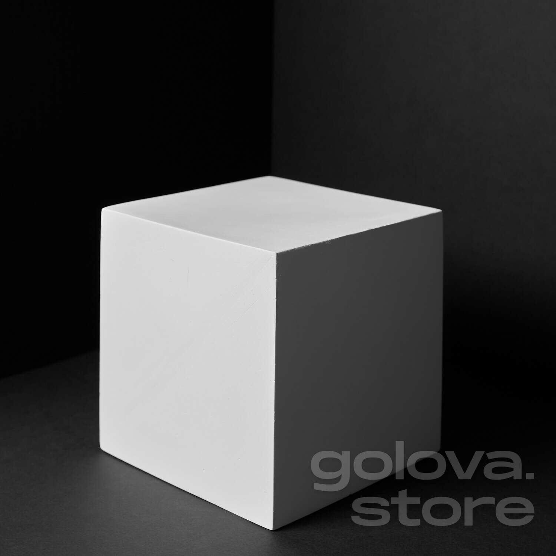 Куб большой, гипс