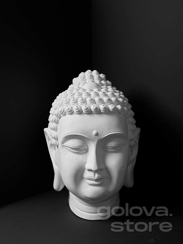 Большая гипсовая голова (бюст) Будда