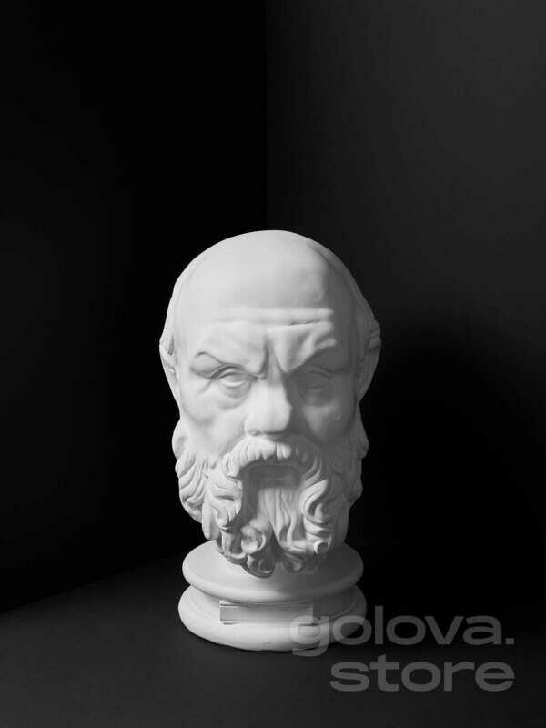 Гипсовая голова (бюст) Сократ (проработанный скульптором)