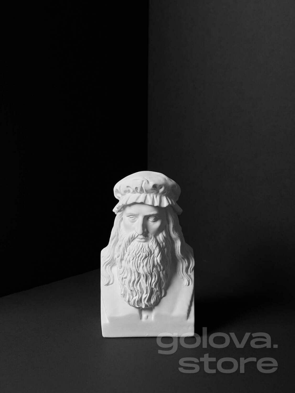 Гипсовый бюст Леонардо да Винчи