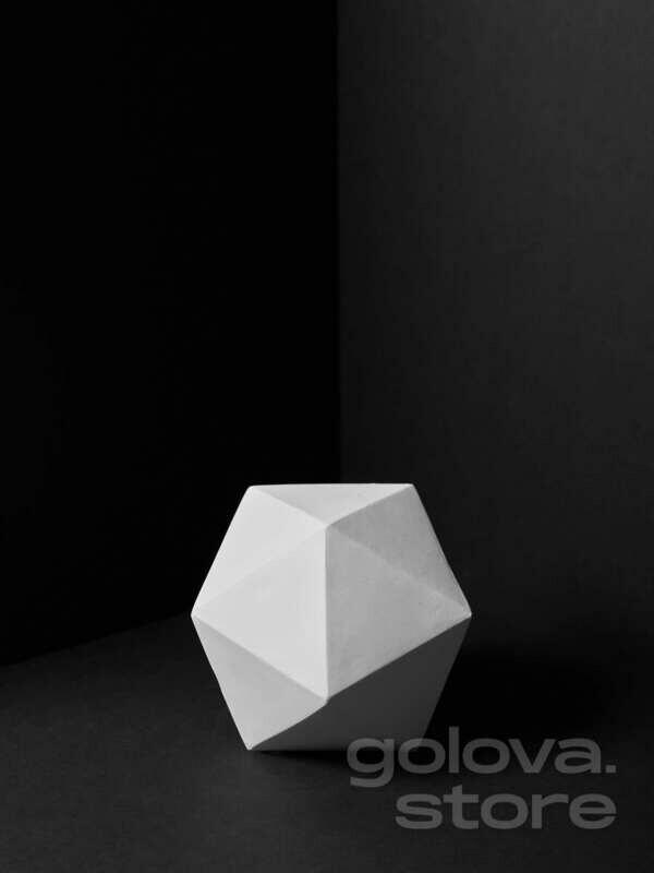 Икосаэдр, многогранник с 20 гранями, выпуклый правильный