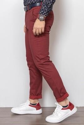 Pantaloni In Cotone Micro-fantasia