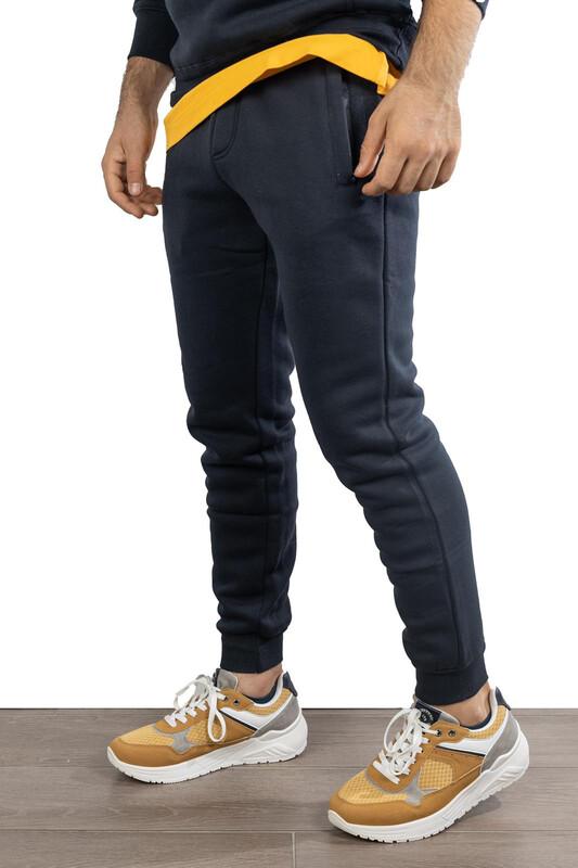 Pantaloni di tuta tinta unita felpati