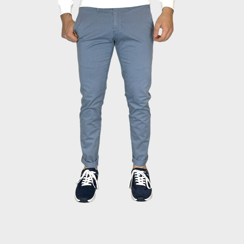 Pantaloni micro fantasia slim