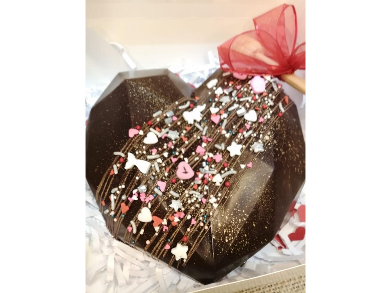 Corazón Gigante de Chocolate (80% SUGAR FREE)