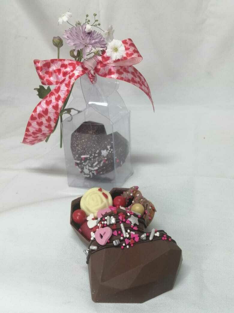 Corazón Mini de Chocolate (80% SUGAR FREE)