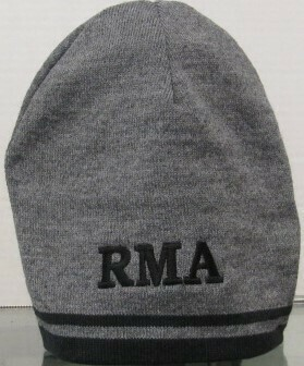 CAP BEANIE GREY/BLK STRIPE RMA