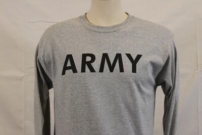 T SHIRT ARMY LS