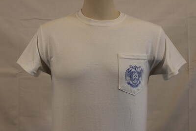 T SHIRT POCKET WH