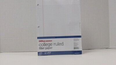 Paper Wide Rule DO NOT USE