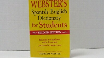 Dictionary Spanish/Eng Webster