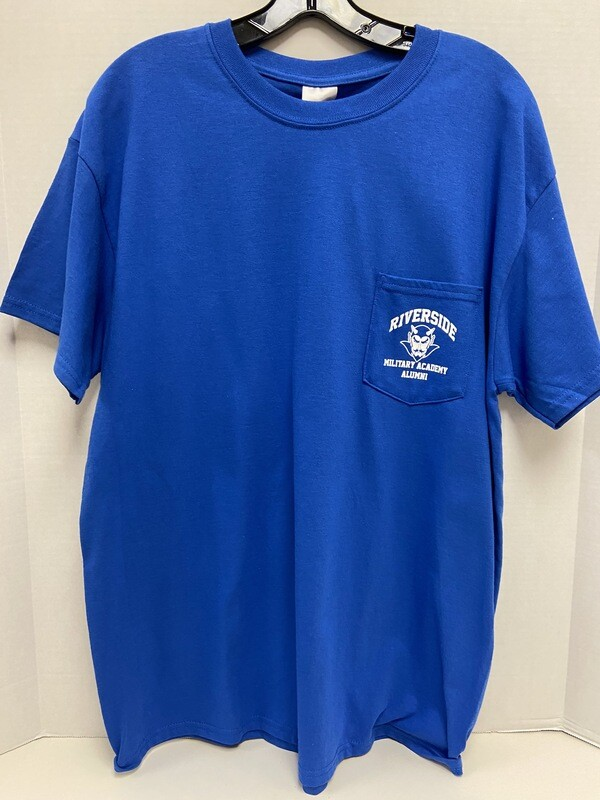 T SHIRT POCKET RBLUE