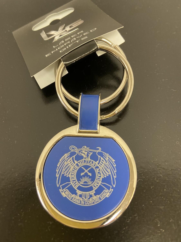 Key Chain Blue w/Crest