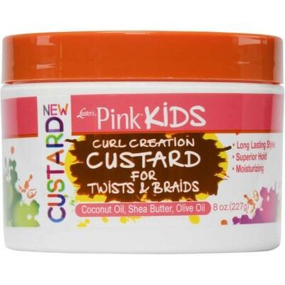 Pink Kids Curl Creation Custard For Twist & Braids 8oz