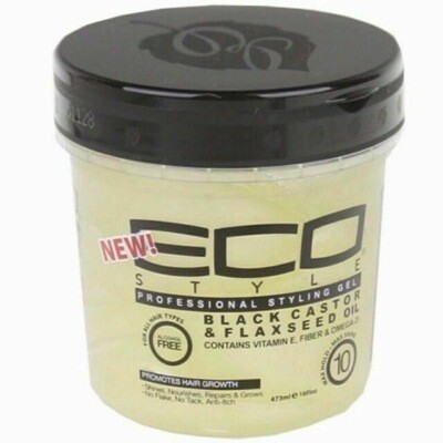 ECO Styling Gel Black Castor And Flaxseed Oil 16oz