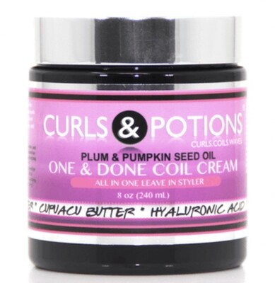 Curls & Potions One & Done Coil Cream 8oz