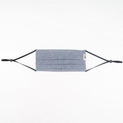 V-mask: Reusable & Washable Face Mask in Chambray Blue