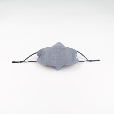 D-mask: Reusable & Washable Face Mask in Chambray Blue