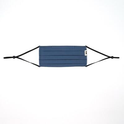 V-mask: Reusable & Washable Face Mask in Steel Blue