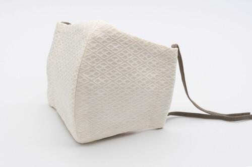 Nishijin Mask_Hishi <White/Beige>