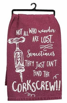 Burgundy Corkscrew Flour Sack Towel