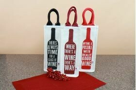 Jute Wine Tote; Assorted