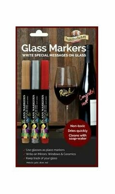Wine Glass Markers 3 Pack