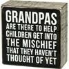 Box Sign; Grandpas