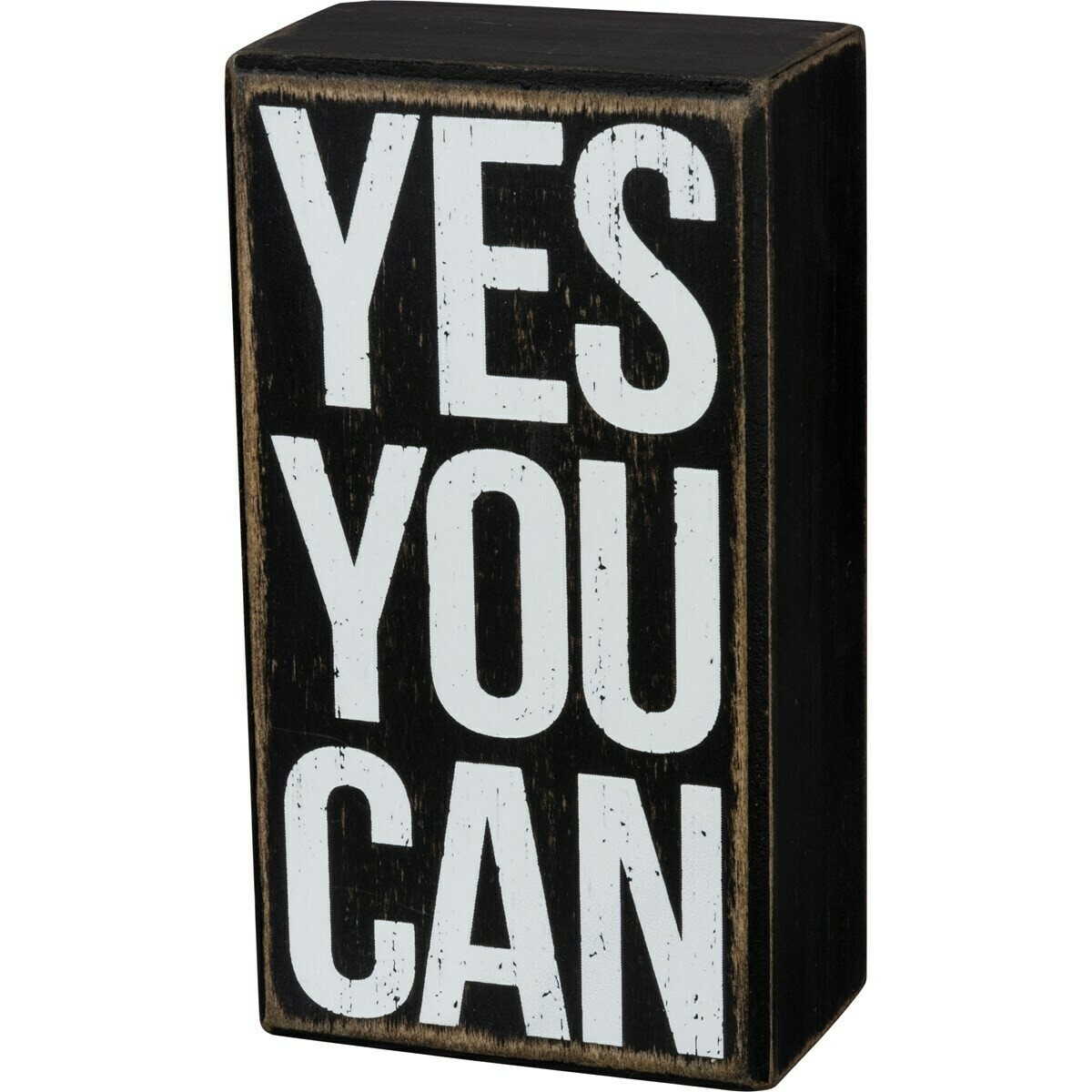 Box Sign; Yes You Can