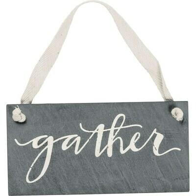Hanging Plaque; Gather