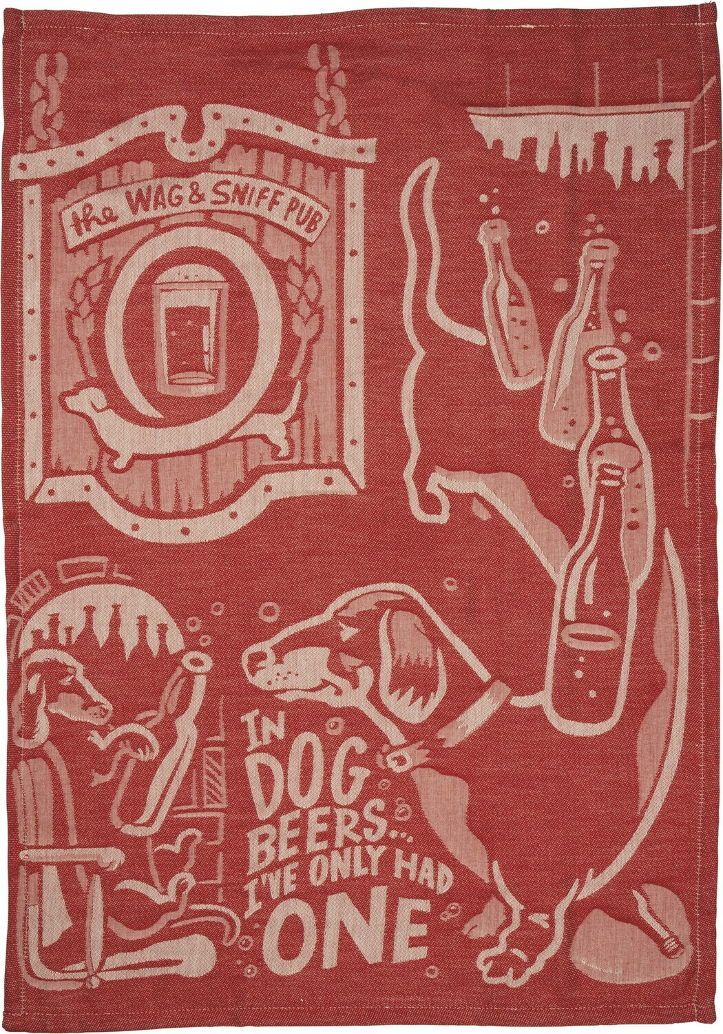 Dish Towel; In Dog Beers.....