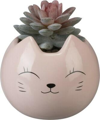 Pink Cat Faux Succulent