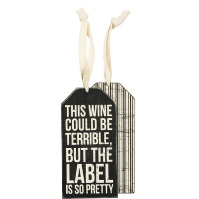 Wine Bottle Tag; Label is Pretty