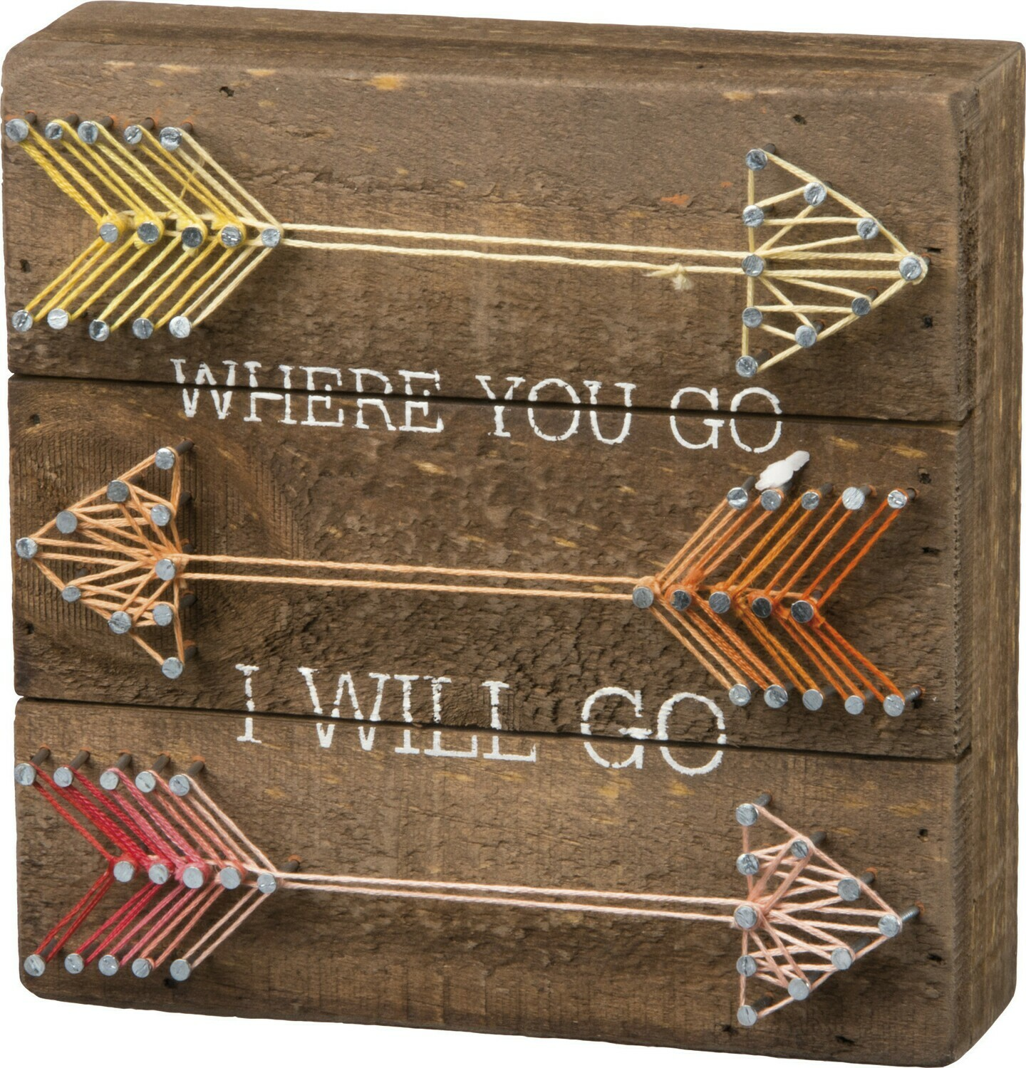 String Art; Where you go (with arrows)