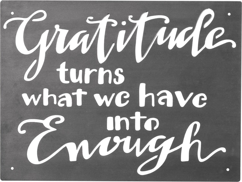 Metal Sign; Gratitude