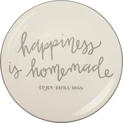 Blessings Plate; Happiness is Homemade