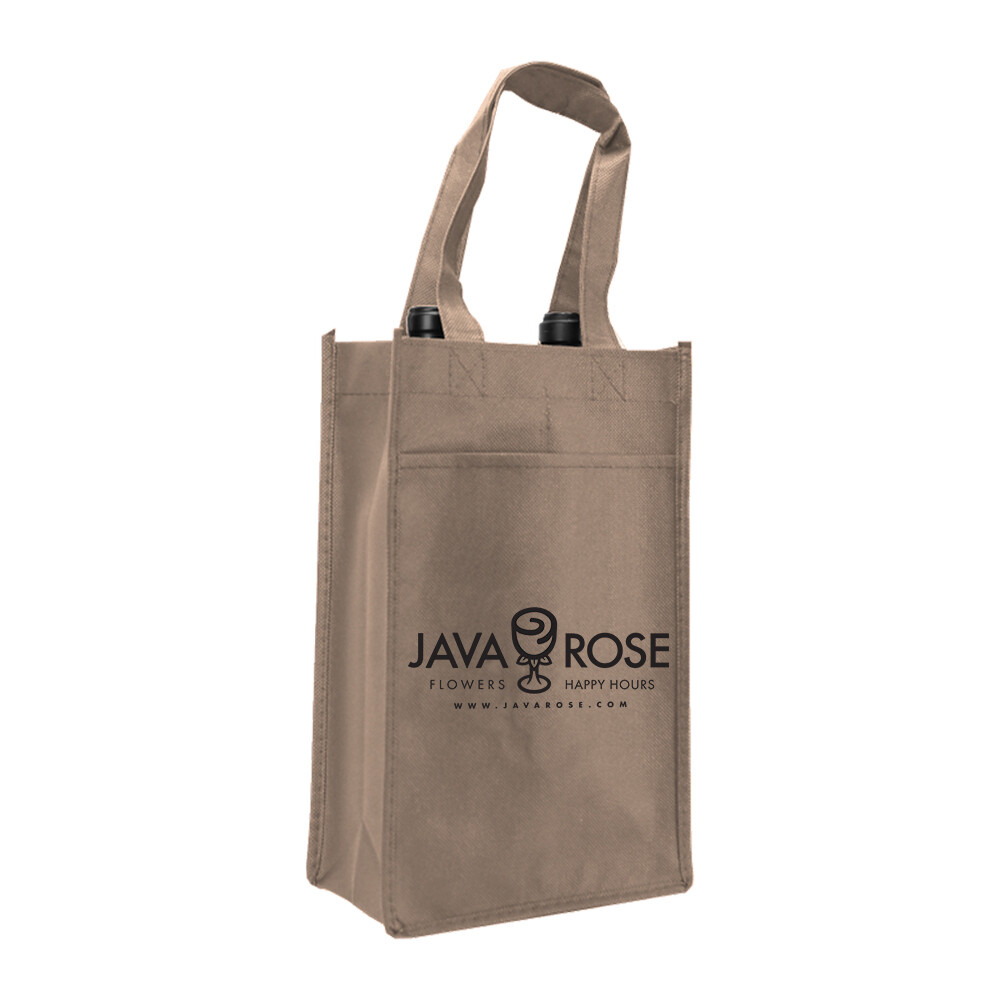 Two Bottle Tote; Java Rose