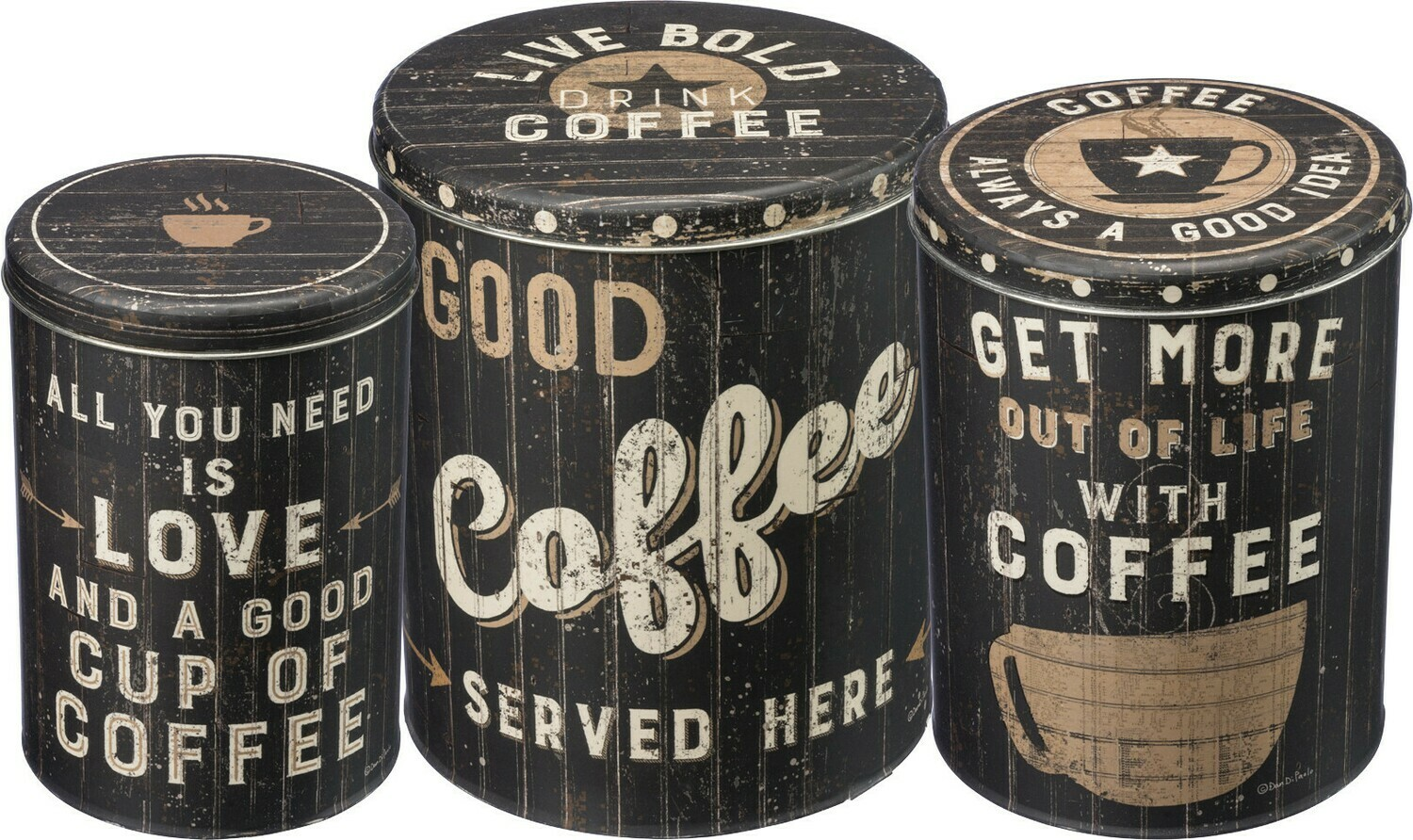 Coffee Tin; Medium