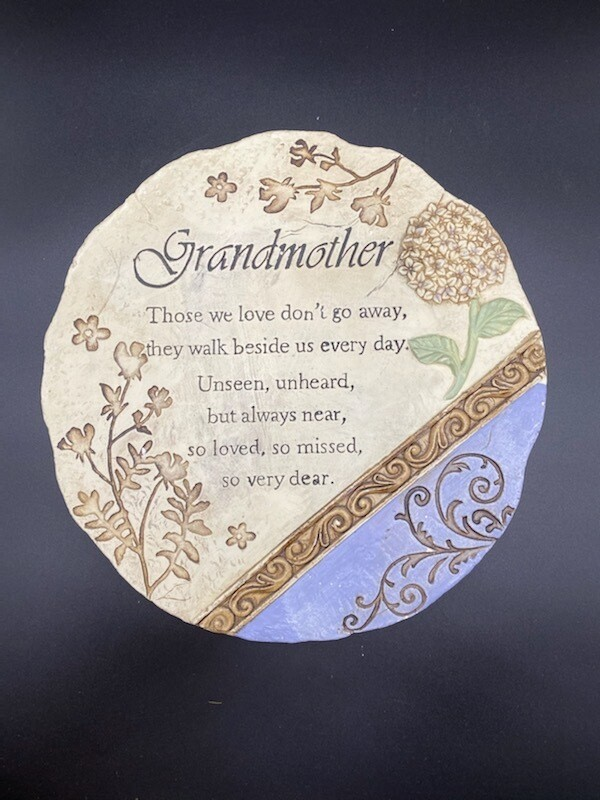 Large, Round Grandmother Memorial Plaque