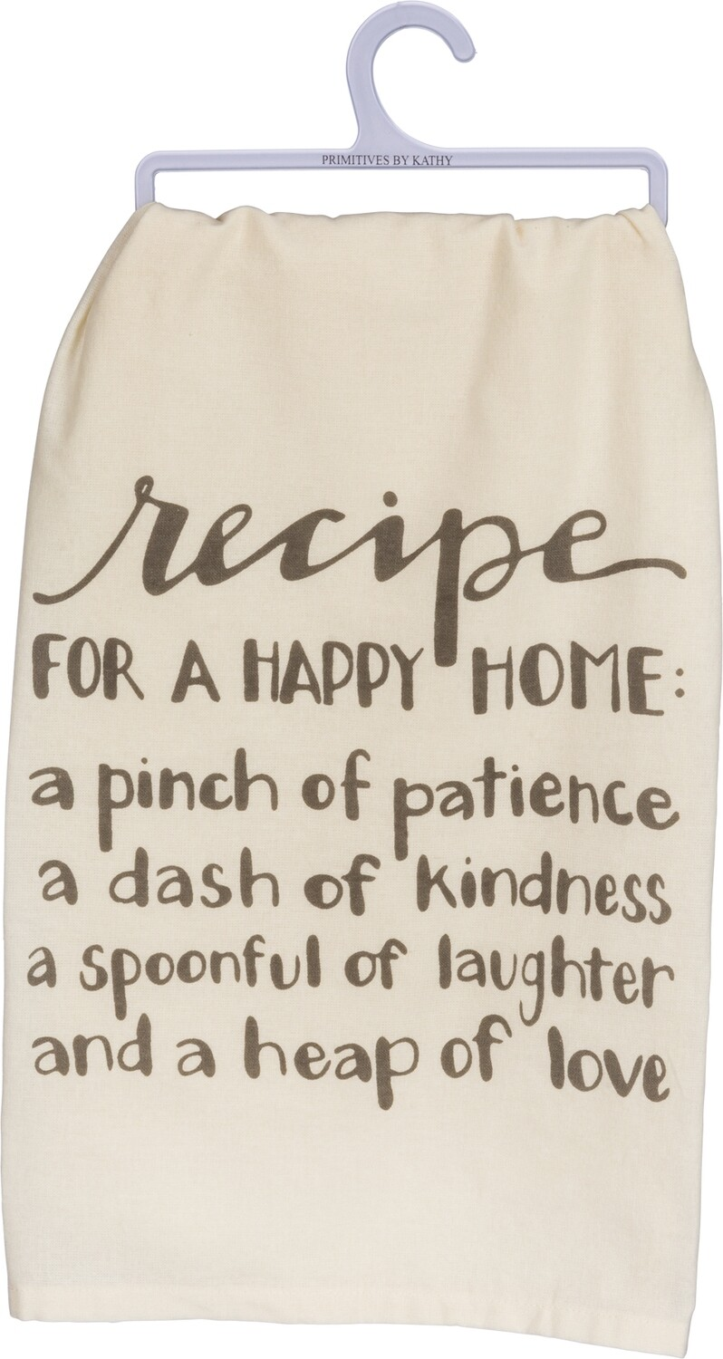 Dish Towel; Recipe for a Happy Home