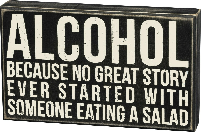 Box Sign; Alcohol