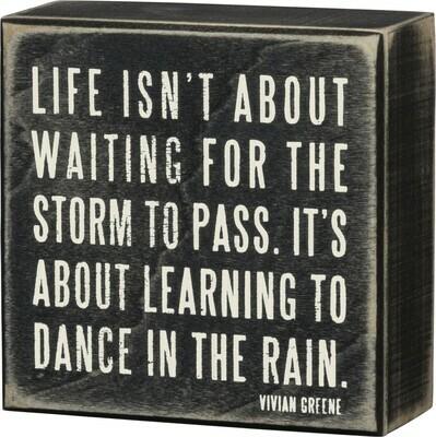 Box Sign; Dance in the rain