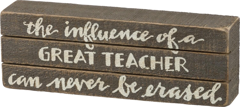 Slat Box Sign; Great Teacher