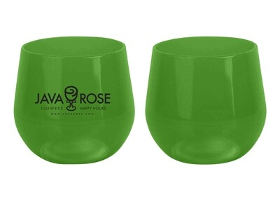 Silicon Stemless Wine Glass; green