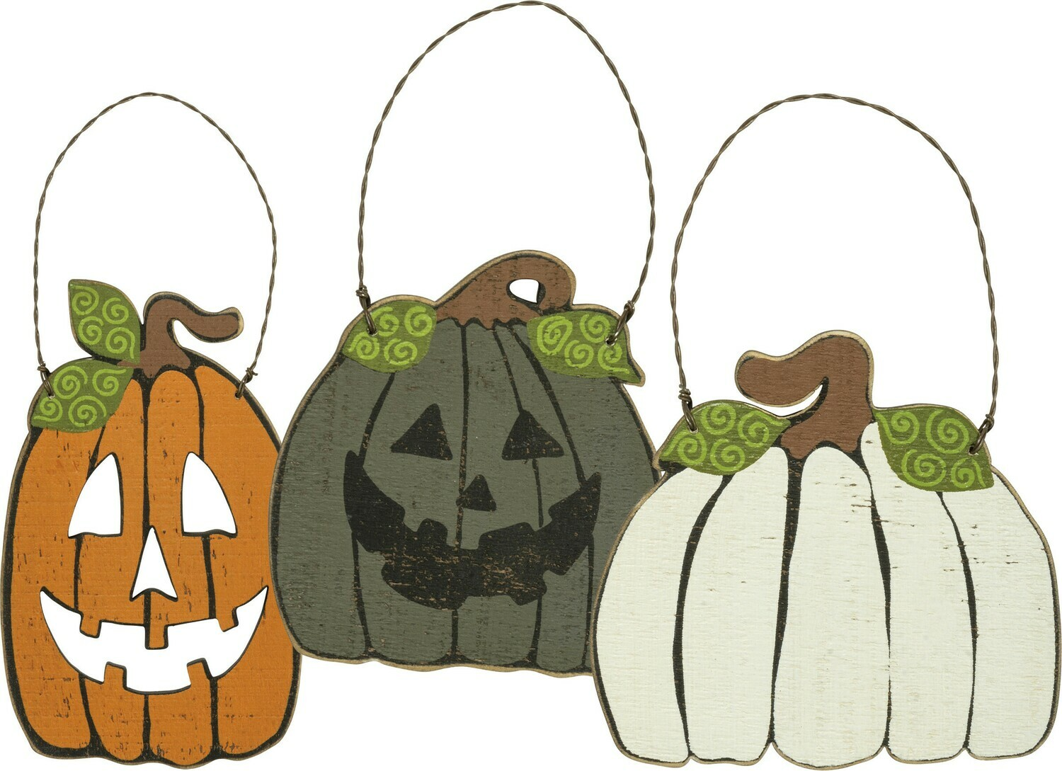 Pumpkin Ornaments; set of 3