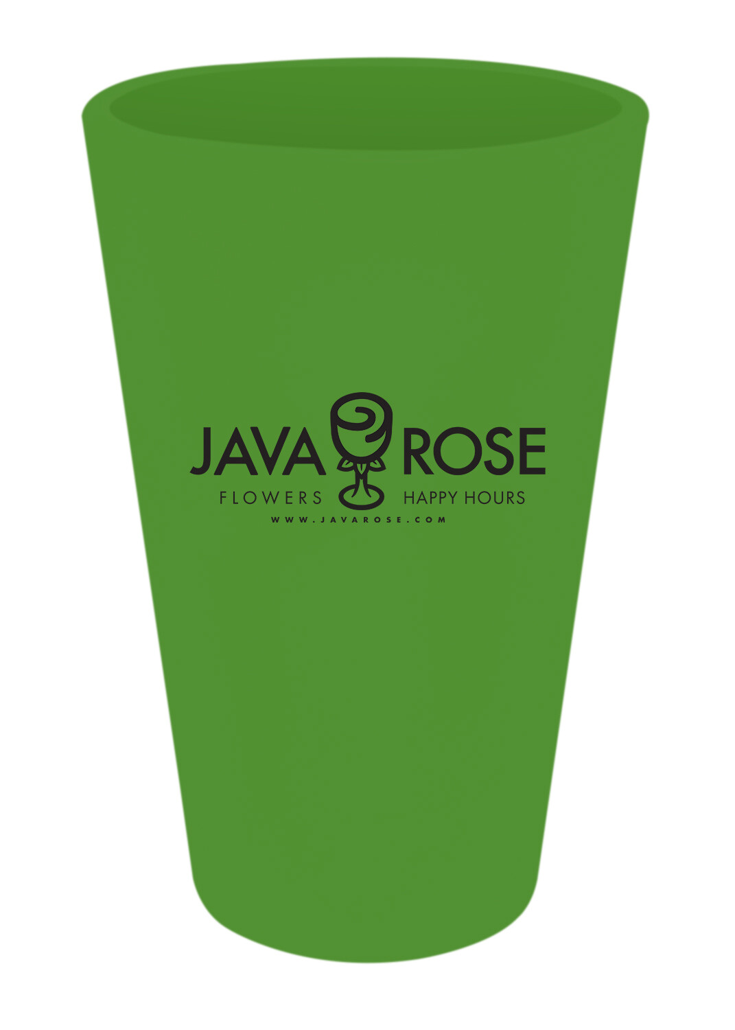Silicon Pint Glasses; Green