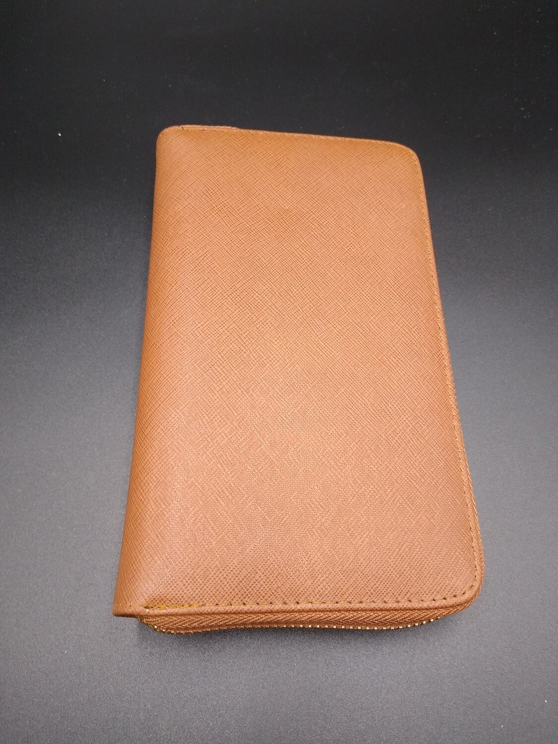Brown Zippered Wallet