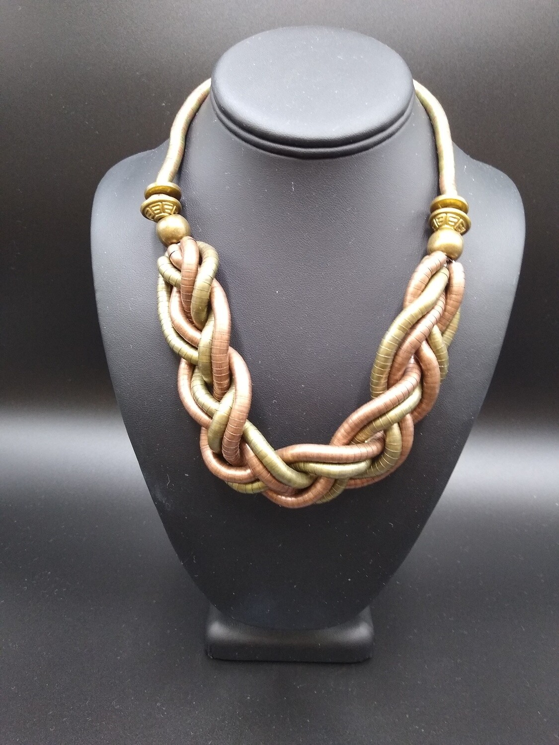 Copper and Gold Twisted Necklace