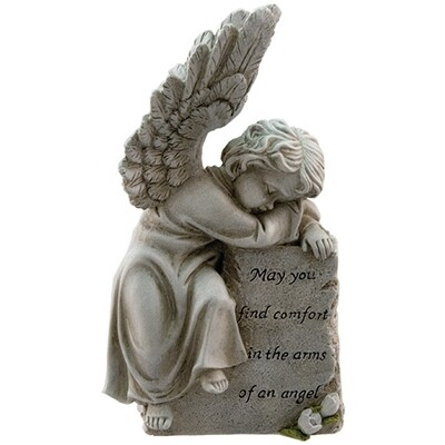 Comfort in the arms of an angel memorial plaque