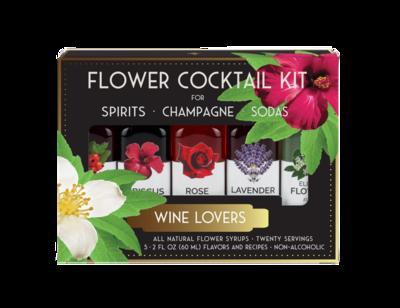 Flower Cocktail Kit; Wine Lovers